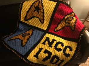 Star Trek crocheted blanket
